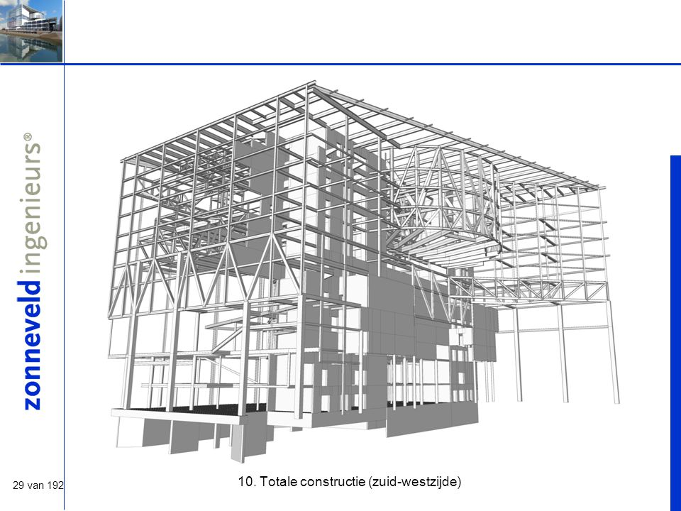 29 van 192 10. Totale constructie (zuid-westzijde)