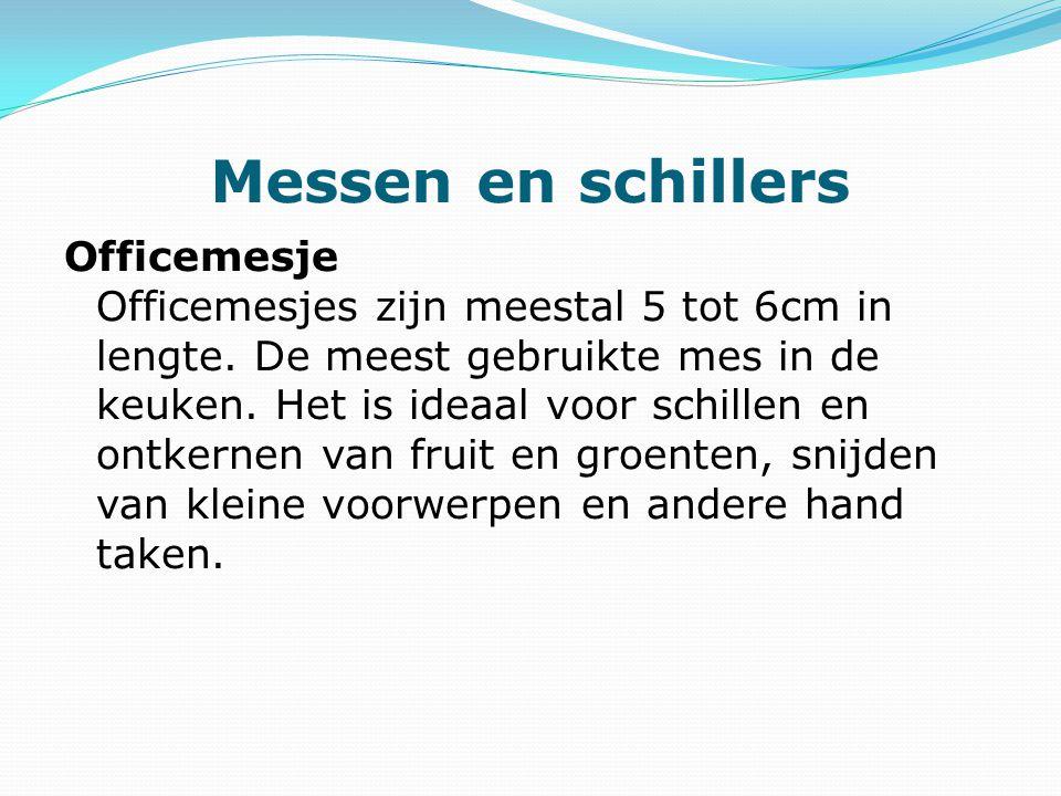 Messen en schillers Officemesje Officemesjes zijn meestal 5 tot 6cm in lengte.