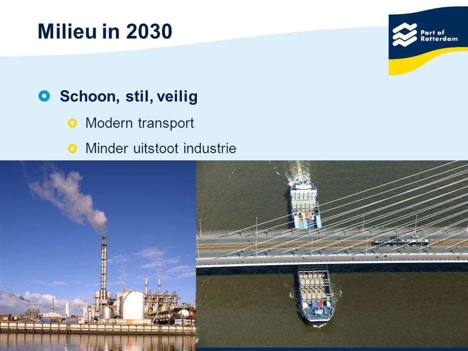 10 Milieu in 2030  Schoon, stil, veilig  Modern transport  Minder uitstoot industrie