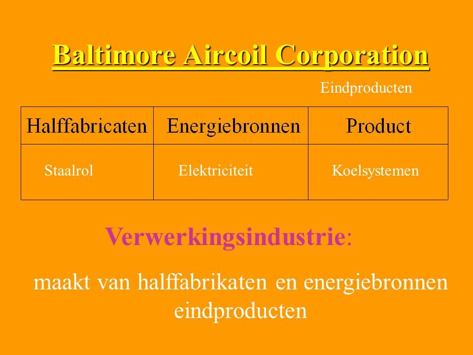 Baltimore Aircoil Corporation StaalrolElektriciteitKoelsystemen Eindproducten Verwerkingsindustrie: maakt van halffabrikaten en energiebronnen eindpro