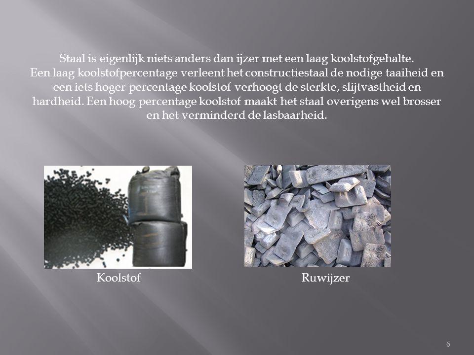 6 Staal is eigenlijk niets anders dan ijzer met een laag koolstofgehalte.