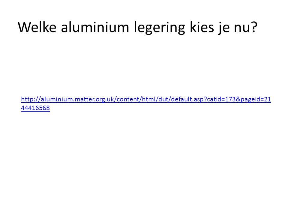 Welke aluminium legering kies je nu? http://aluminium.matter.org.uk/content/html/dut/default.asp?catid=173&pageid=21 44416568