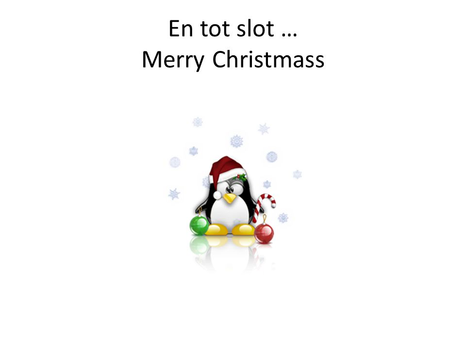 En tot slot … Merry Christmass