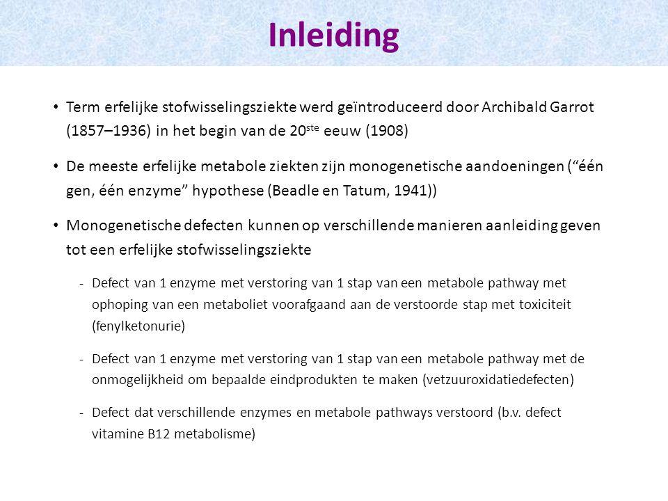 ♂, a terme, geen problemen Dag 30: neonatale screening toont vermoeden MCAD deficiëntie => Confirmatiestaal acylcarnitines in bloed Vetzuuroxidatie-defecten