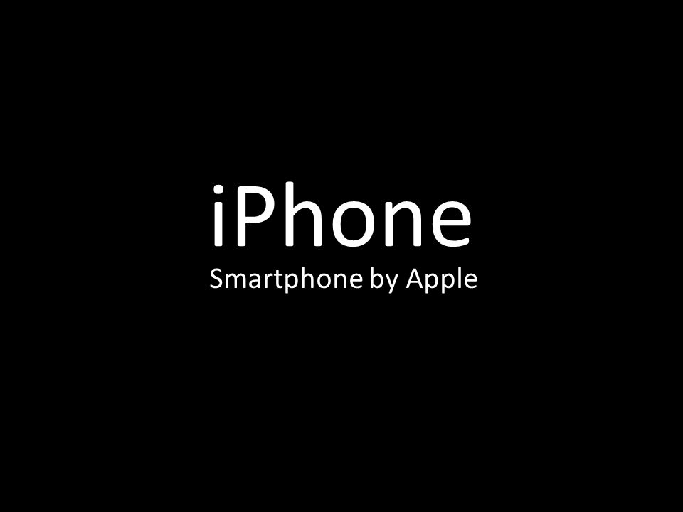 iPhone Smartphone by Apple