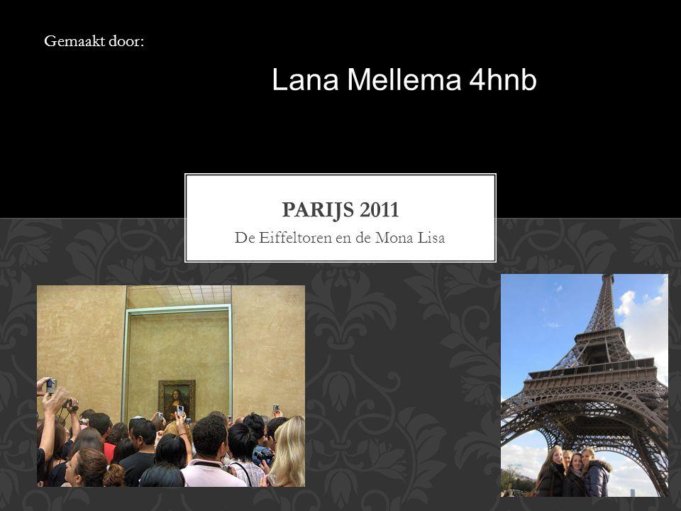 De Eiffeltoren en de Mona Lisa Gemaakt door: Lana Mellema 4hnb