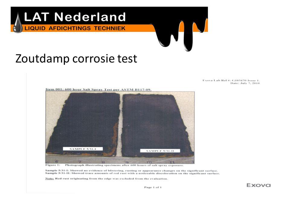 Zoutdamp corrosie test Metaal