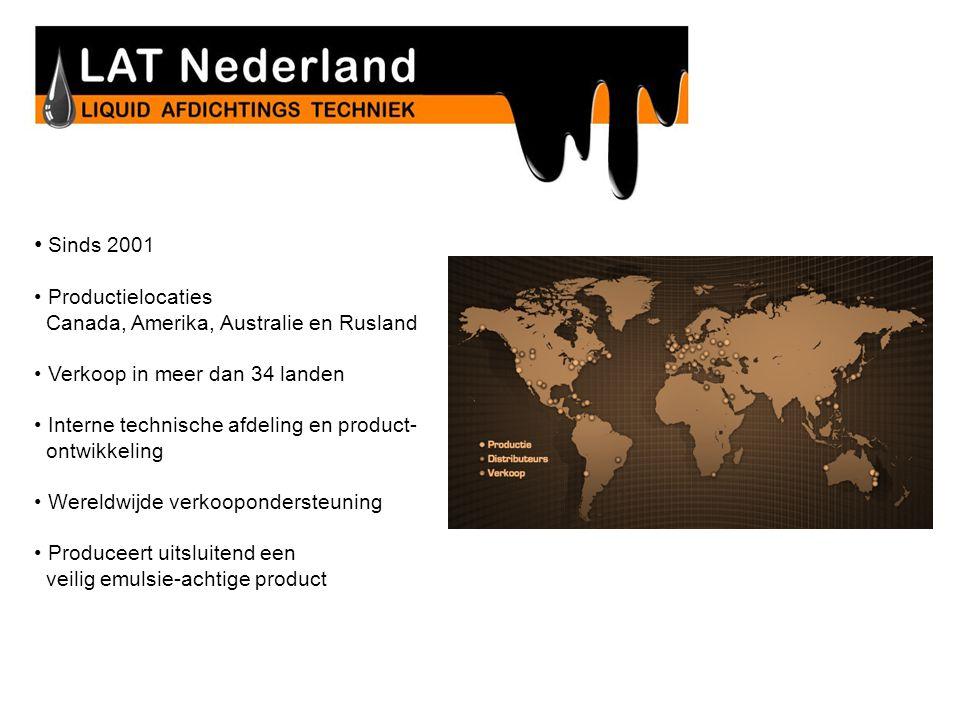 EEN INTERNATIONALE ORGANISATIE Sinds 2001 Productielocaties Canada, Amerika, Australie en Rusland Verkoop in meer dan 34 landen Interne technische afd