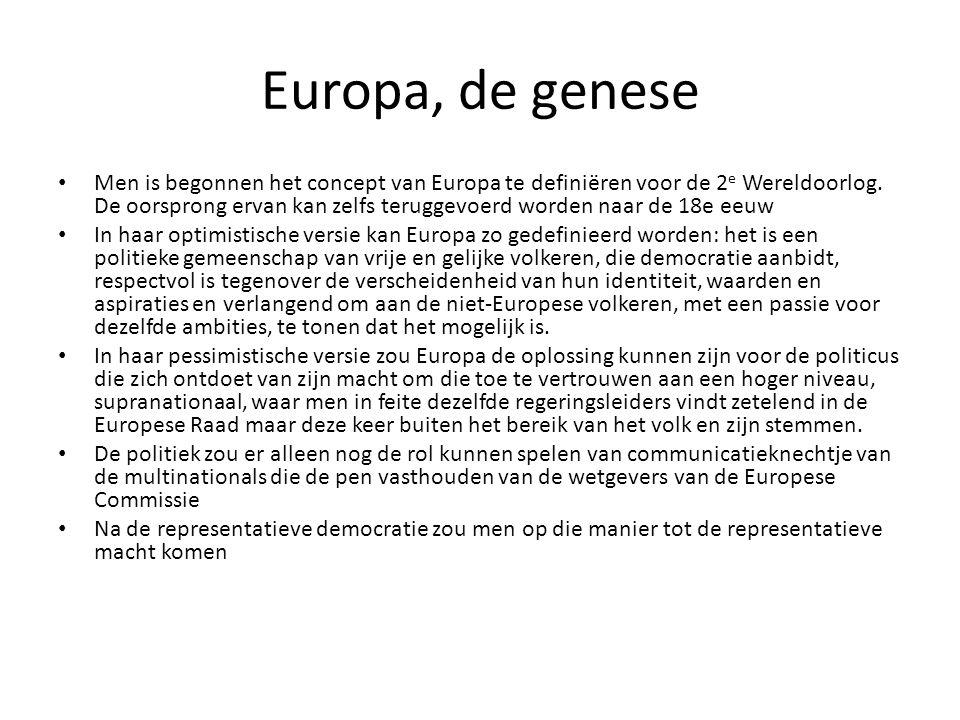 Europa, de genese Men is begonnen het concept van Europa te definiëren voor de 2 e Wereldoorlog. De oorsprong ervan kan zelfs teruggevoerd worden naar