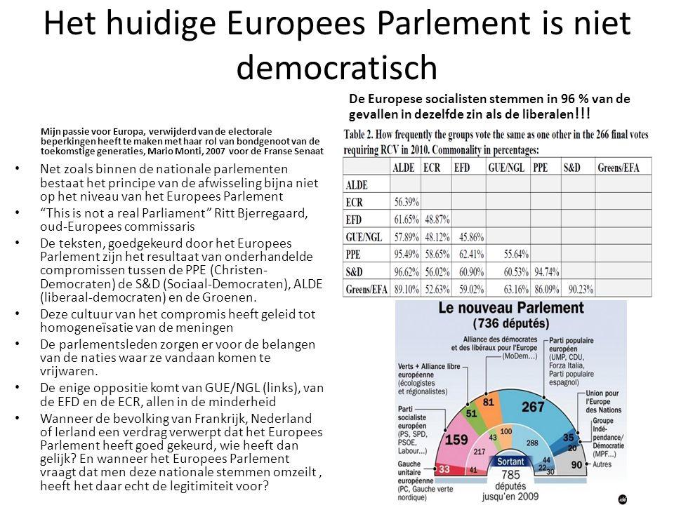 Het huidige Europees Parlement is niet democratisch Mijn passie voor Europa, verwijderd van de electorale beperkingen heeft te maken met haar rol van