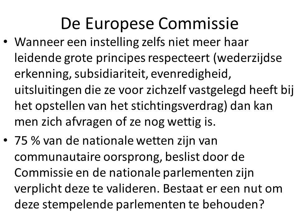 De Europese Commissie Wanneer een instelling zelfs niet meer haar leidende grote principes respecteert (wederzijdse erkenning, subsidiariteit, evenred