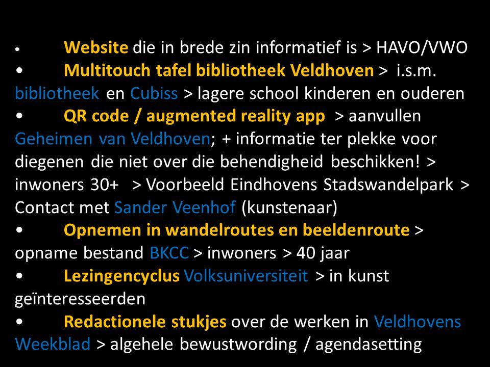 Website die in brede zin informatief is > HAVO/VWO Multitouch tafel bibliotheek Veldhoven > i.s.m. bibliotheek en Cubiss > lagere school kinderen en o