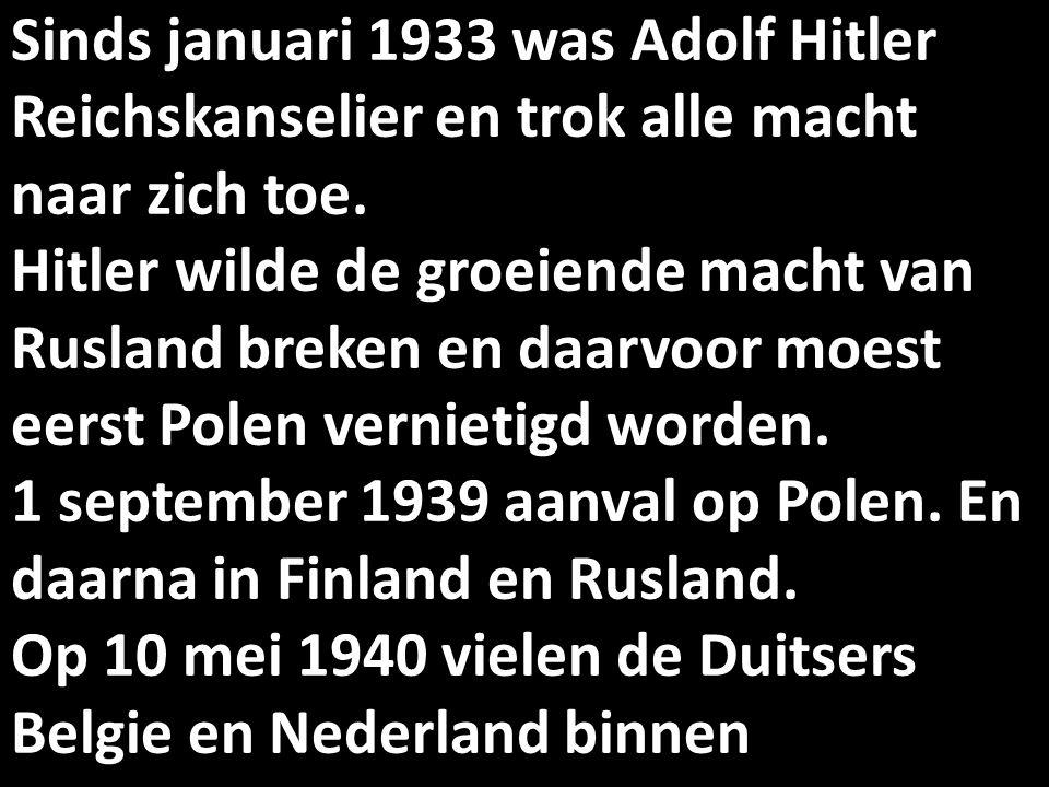 Sinds januari 1933 was Adolf Hitler Reichskanselier en trok alle macht naar zich toe.
