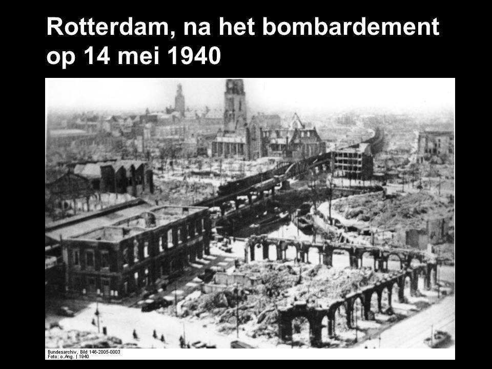 Rotterdam, na het bombardement op 14 mei 1940