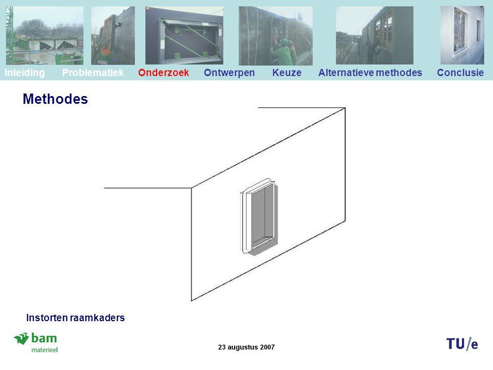 Methodes Inleiding Problematiek Onderzoek Ontwerpen Keuze Alternatieve methodes Conclusie Instorten raamkaders