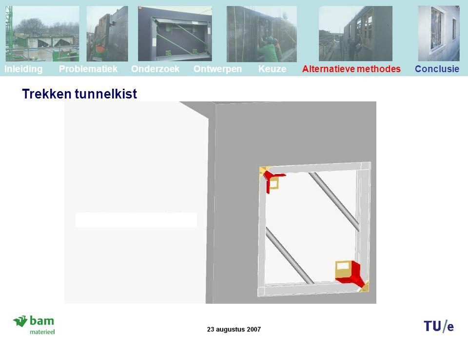 Trekken tunnelkist Inleiding Problematiek Onderzoek Ontwerpen Keuze Alternatieve methodes Conclusie