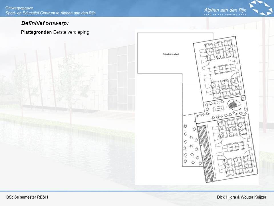 Definitief ontwerp: Plattegronden Eerste verdieping