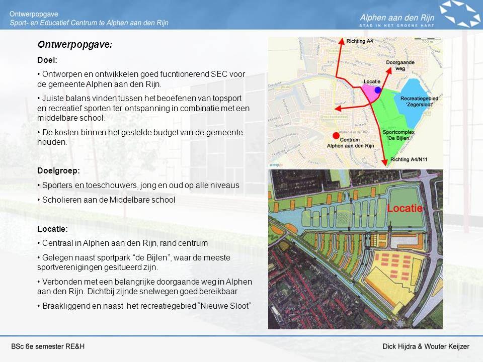 Ontwerpopgave: Doel: Ontworpen en ontwikkelen goed fucntionerend SEC voor de gemeente Alphen aan den Rijn. Juiste balans vinden tussen het beoefenen v