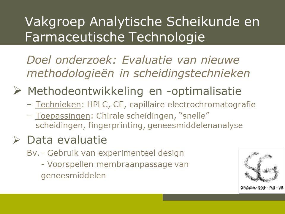 Experimenteel design in methode optimalisatie Bieke Dejaegher