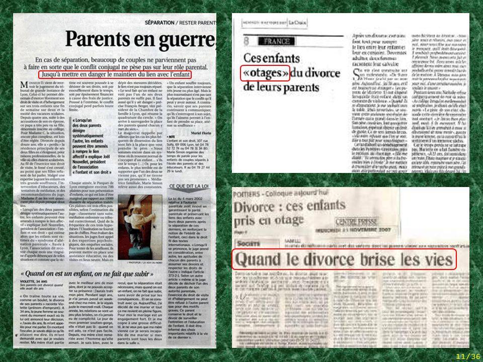 10/36 Hommage aan een van die vaders die uiteindelijk zelfmoord hebben gepleegd, moe van het zovele vechten zonder resultaat. 5 articles de presse + h