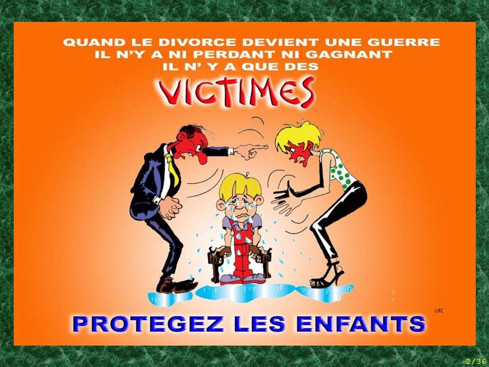 1/36 Het VERLIES VAN DE OUDERLIJKE BAND En het niet-afgeven van kinderen Situatie in België (statistieken en bedenkingen)  Op een lied van TWARRES 
