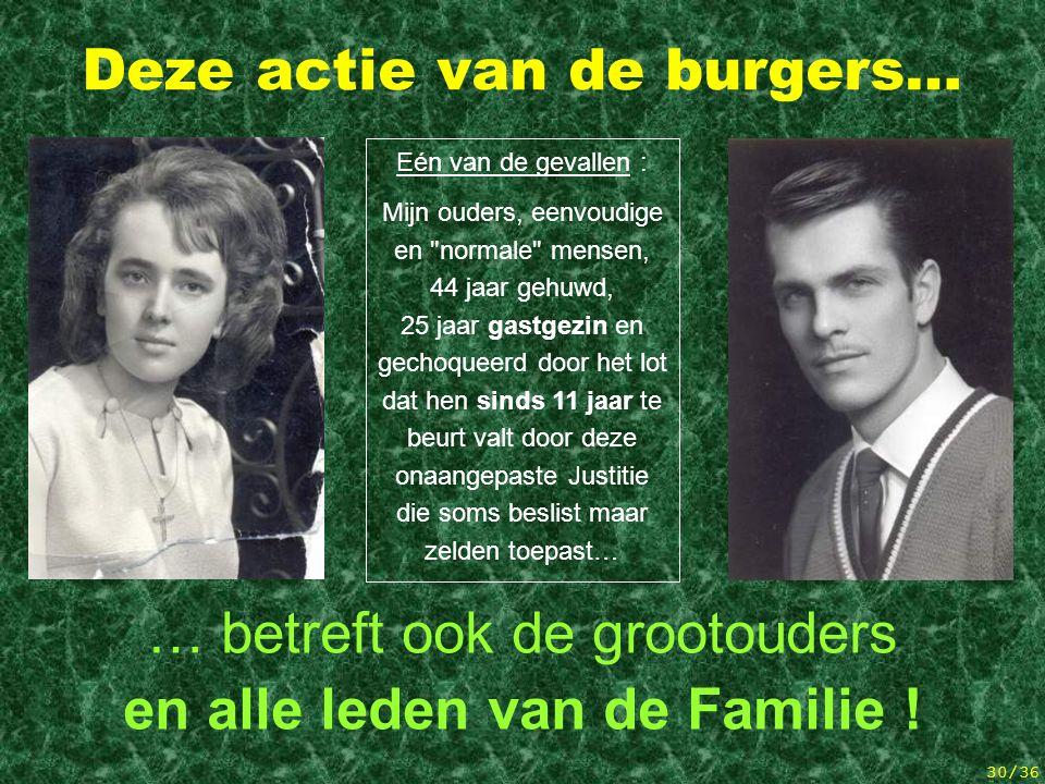 29/36 Evolutie van gisteren tot onze dagen Op 8 juli 1994 stond met name reeds in het artikel van het ernstige Belgische weekblad « Le Vif/L'Express »