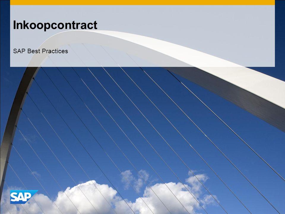 Inkoopcontract SAP Best Practices