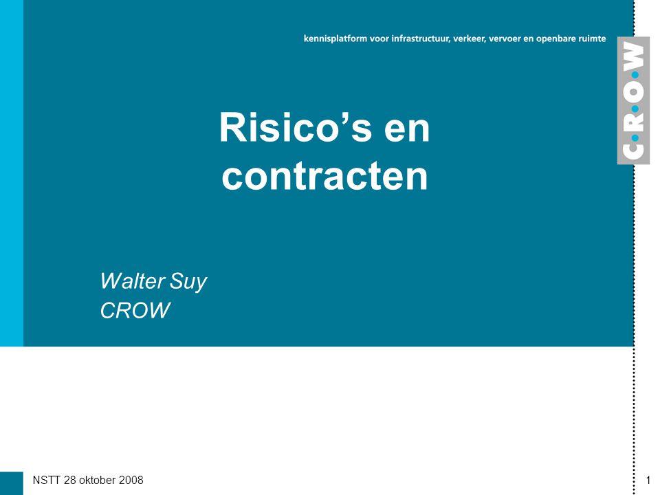 NSTT 28 oktober 20081 Risico's en contracten Walter Suy CROW