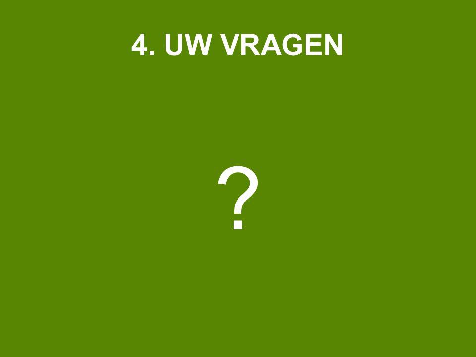 4. UW VRAGEN