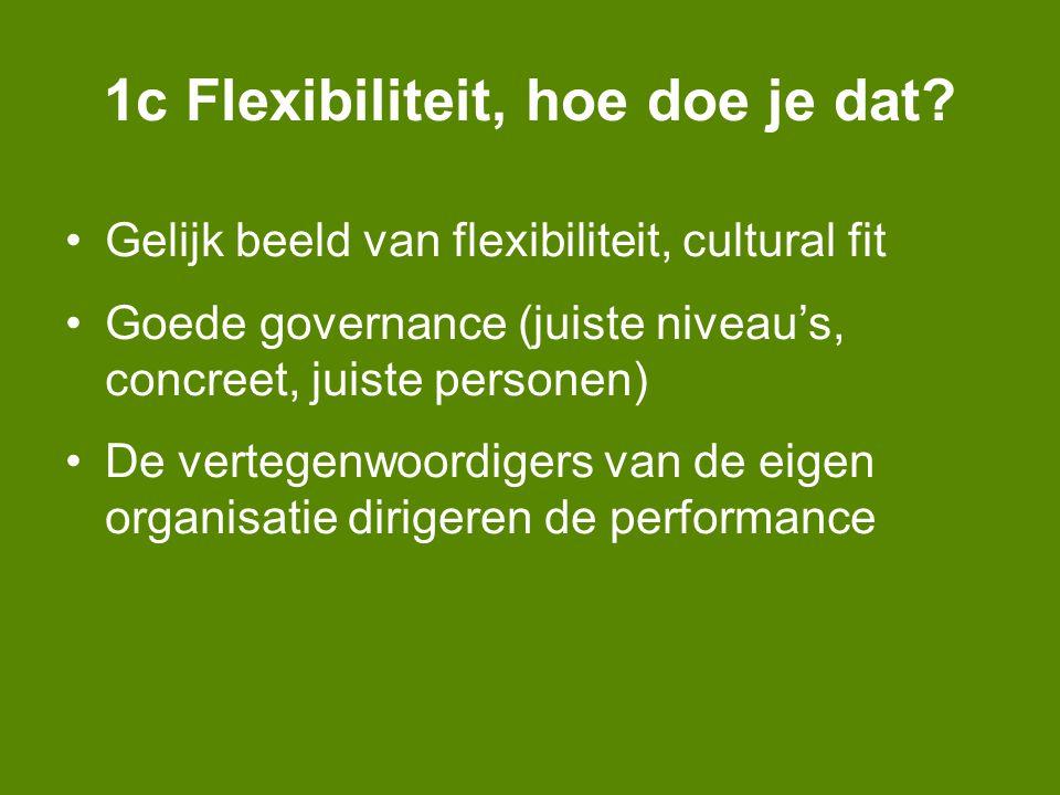 1c Flexibiliteit, hoe doe je dat.
