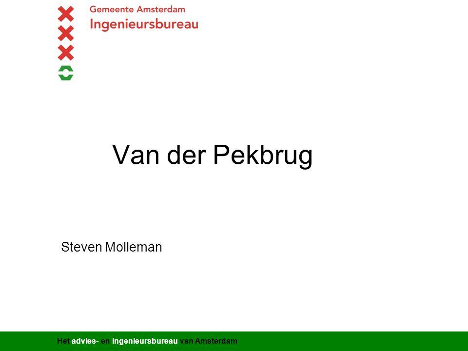Het advies- en ingenieursbureau van Amsterdam Van der Pekbrug Steven Molleman