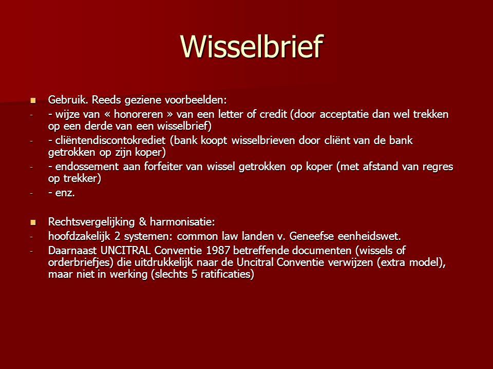 Wisselbrief Wisselbrief Gebruik.Reeds geziene voorbeelden: Gebruik.