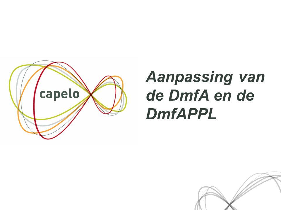 3 Aanpassing van de DmfA en de DmfAPPL