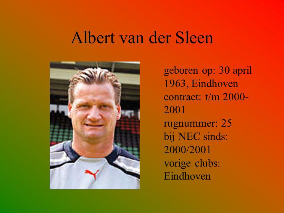 René van Rijswijk geboren op: 3 januari 1973 contract: t/m 2001- 2002 rugnummer: 11 bij NEC sinds: 1999/2000 vorige clubs: RKC Waalwijk, Cambuur Leeuwarden
