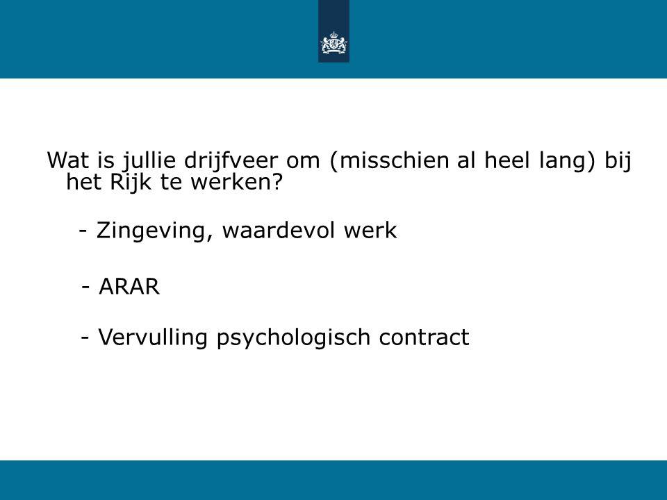 2 - Eerst raadpleeggesprekken - Toen veranderorganisatie en adviesraad - Cultuur op één - Vandendriessche: Hoe en Wat - Na de Zoetermeerse lente, nu d