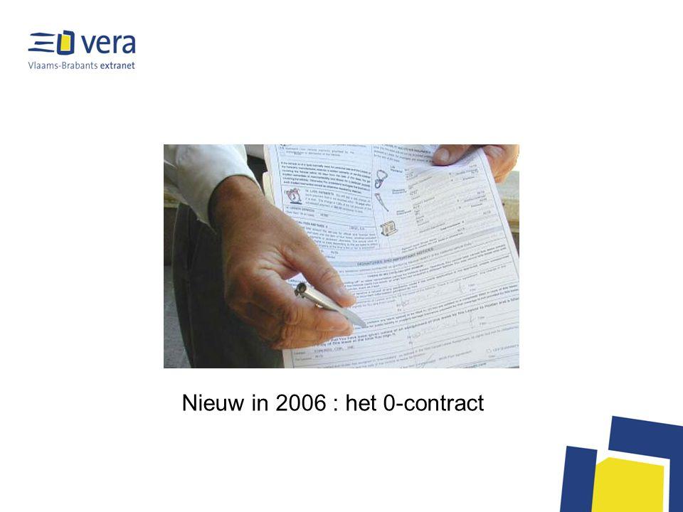Het NUL-contract Basisvoorwaarden voor het gebruikmaken van de VERA- voorzieningen Gratis dienstverlening –kan gratis blijven voor bescheiden bestuur, middelmatig ocmw Basisbrandbreedte over Internet –Basisbandbreedte blijft gegarandeerd –« streaming » is evenwel met 10% toegenomen tussen juni en september 2005 –bandbreedte-verbruik door specifieke applicaties E-mail voor elke medewerker –POP3 met virusscanning en spamfilter –(tegenover AgendaWeb) Interconnectie naar andere diensten –Kruispuntbank, PubliLink, Rijksregister… En een prijsbepaling voor wie van VERA meer verlangt