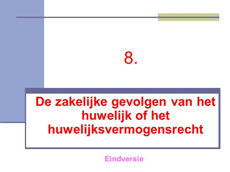 21 Het huwelijksvermogensrecht tussen 1400 en 1804 Algemene kenmerken  Het conventionele stelsel  Het (gemene) costumiere stelsel 