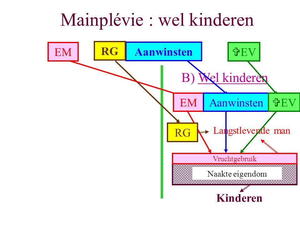 Mainplévie : wel kinderen B) Wel kinderen EM Aanwinsten RG VEV Langstlevende man Aanwinsten RG