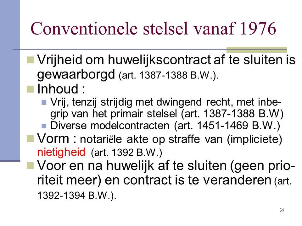 63 Drie rechten van de langstlevende 1° Vruchtgebruik op de helft van nalaten- schap van de eerststervende vanaf 1896 2° Weduwe : recht op afstand van
