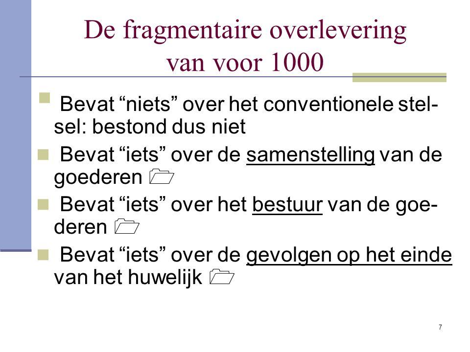 27 Het conventionele stelsel De vrijheid om een huwelijkscontract af te slui- ten werd algemeen erkend.