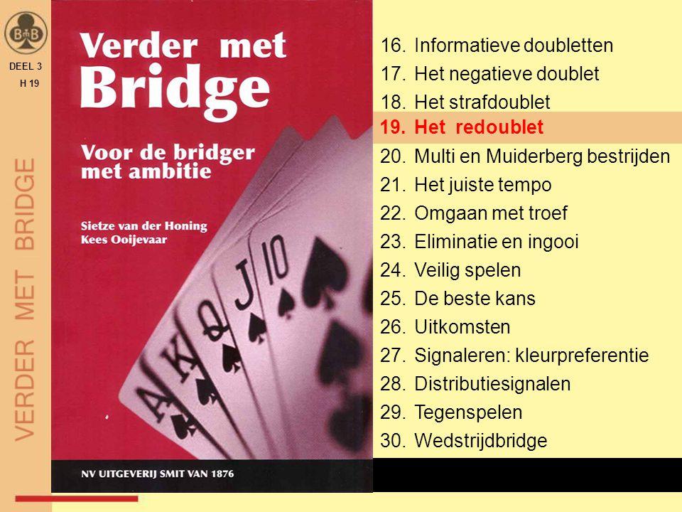 DEEL 3 H 19 Van alle kaartjes in de biedbox wordt het donkerblauwe kaartje met XX veruit het minst gebruikt.