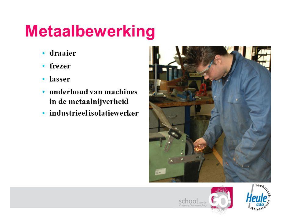 Metaalbewerking draaier frezer lasser onderhoud van machines in de metaalnijverheid industrieel isolatiewerker