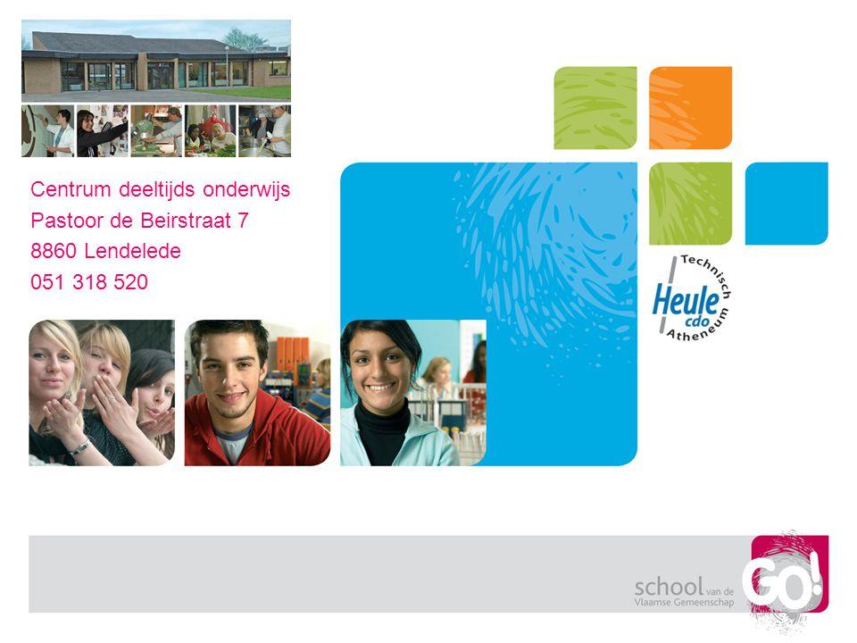 Centrum deeltijds onderwijs Pastoor de Beirstraat 7 8860 Lendelede 051 318 520
