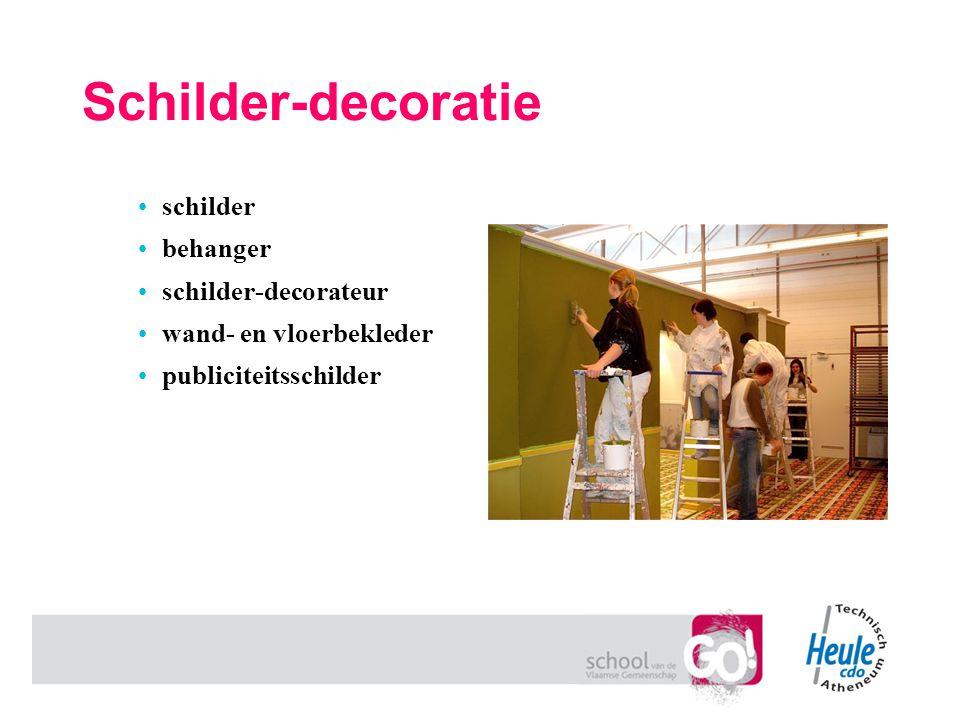 Schilder-decoratie schilder behanger schilder-decorateur wand- en vloerbekleder publiciteitsschilder