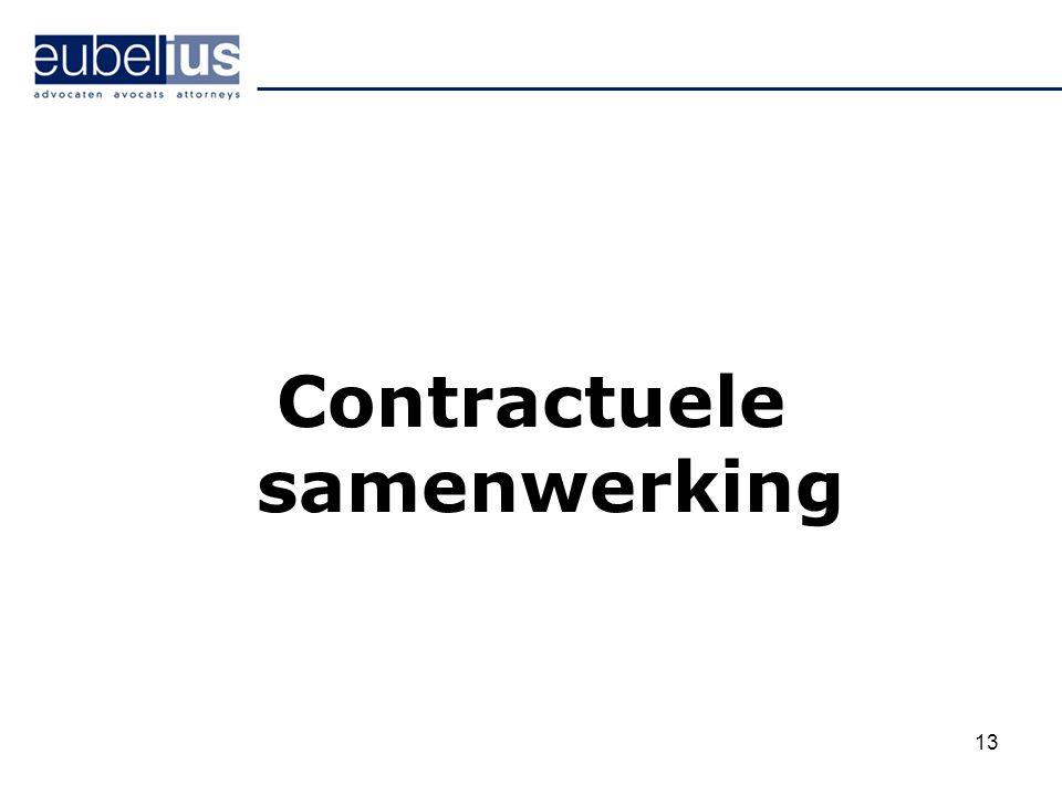 Contractuele samenwerking 13