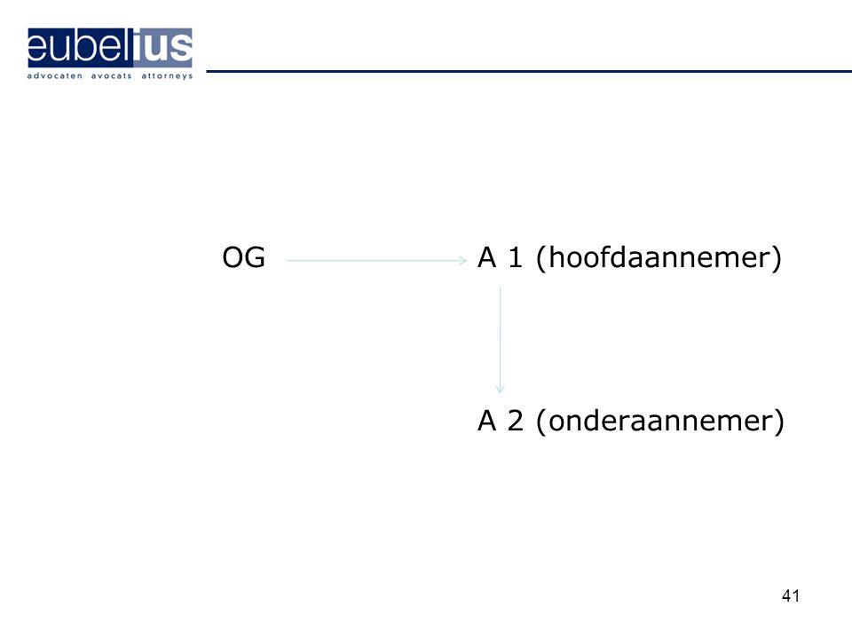 OGA 1 (hoofdaannemer) A 2 (onderaannemer) 41
