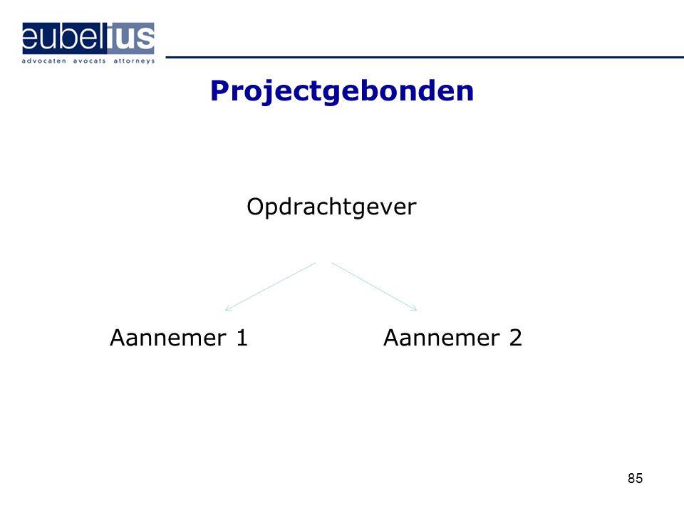 Projectgebonden Opdrachtgever Aannemer 1Aannemer 2 85