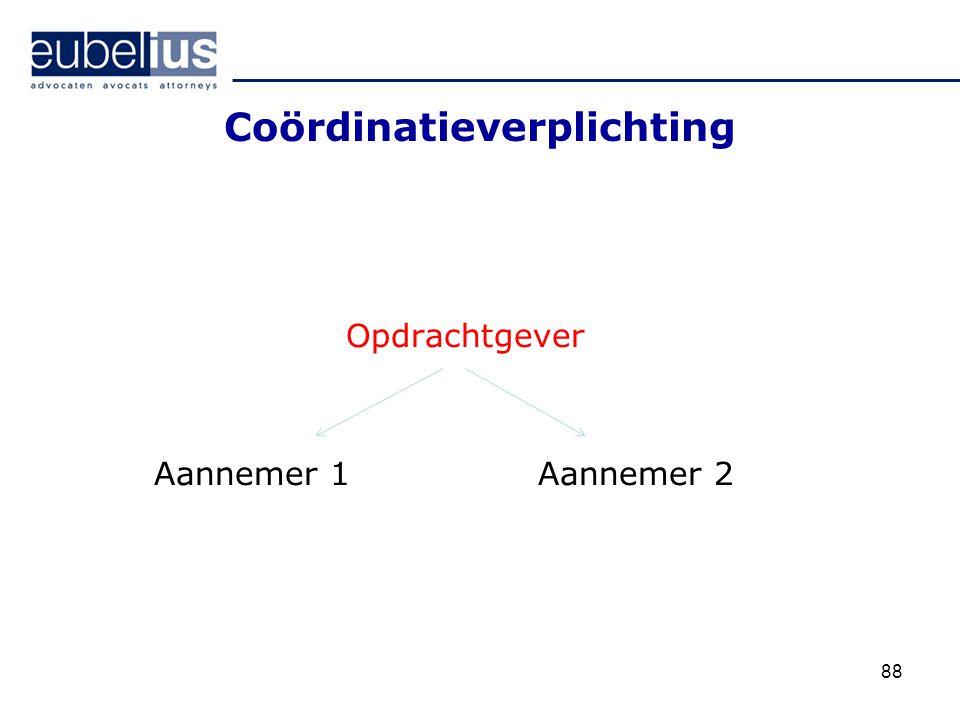 Coördinatieverplichting Opdrachtgever Aannemer 1Aannemer 2 88