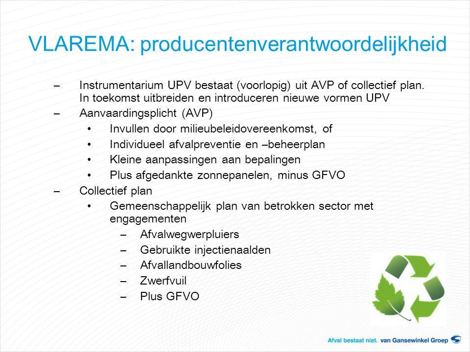 –Instrumentarium UPV bestaat (voorlopig) uit AVP of collectief plan. In toekomst uitbreiden en introduceren nieuwe vormen UPV –Aanvaardingsplicht (AVP