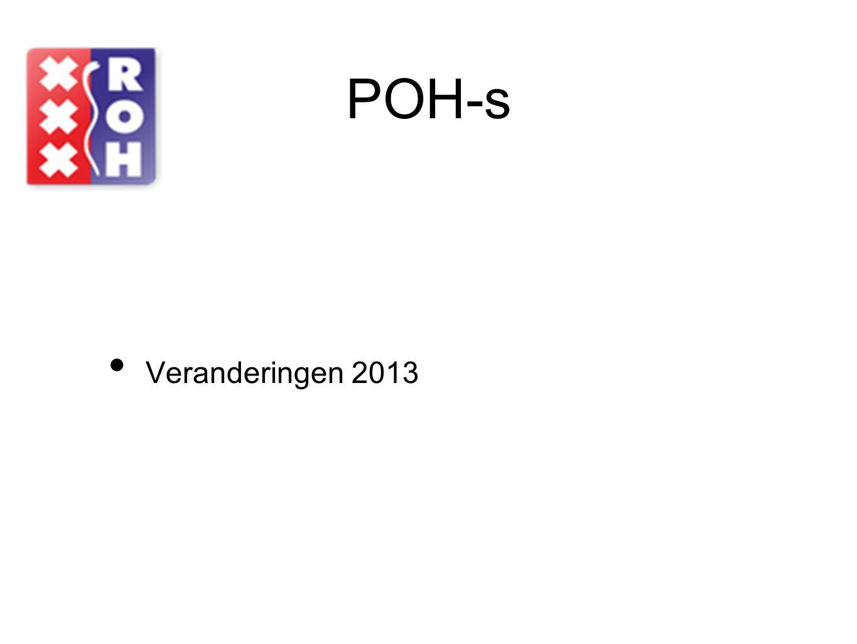 POH-s Veranderingen 2013